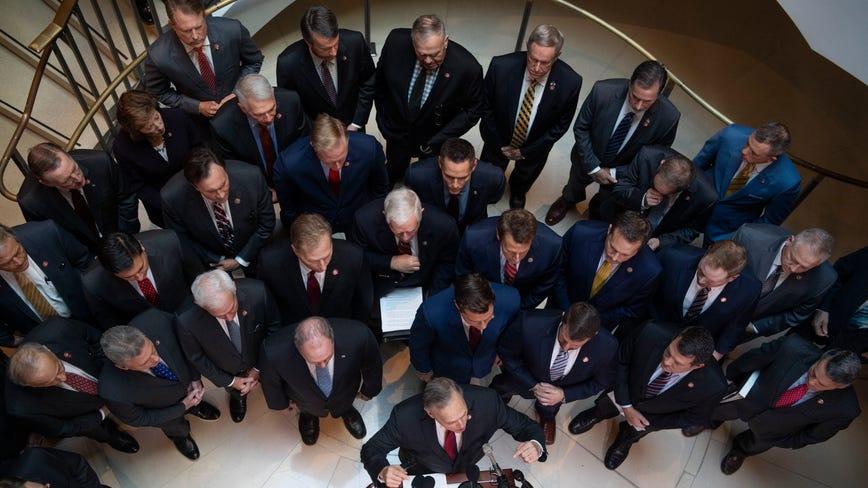 Chaotic scene as Republicans storm closed-door impeachment inquiry deposition