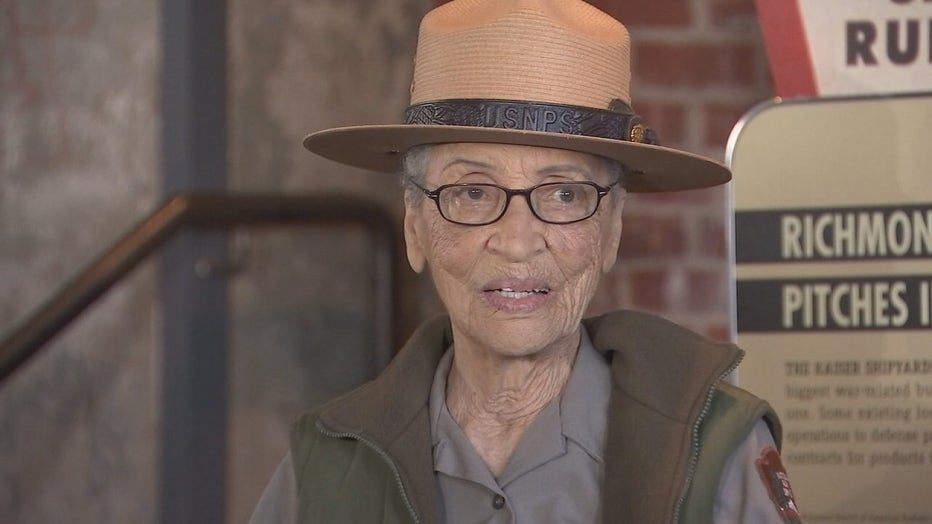FILE ART - Betty Reid Soskin is the nation's oldest park ranger. She works at the Rosie the Riveter WWII Home Front National Historical Park.