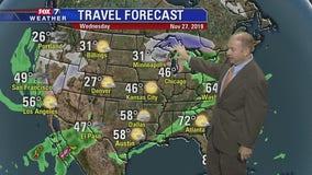 Evening weather forecast for November 25