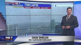 Noon weather forecast for November 7, 2019