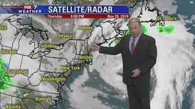 Evening weather forecast for Thursday, November 28