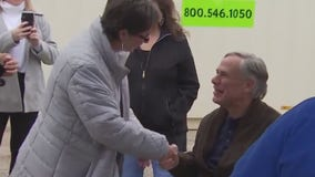 Governor brings Thanksgiving to state homeless campsite