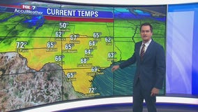Evening weather forecast for November 10, 2019