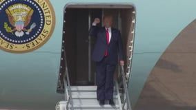 President Trump lands in Austin following slight delay