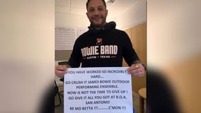 Bowie High School band gets encouragement from actor Tom Hardy