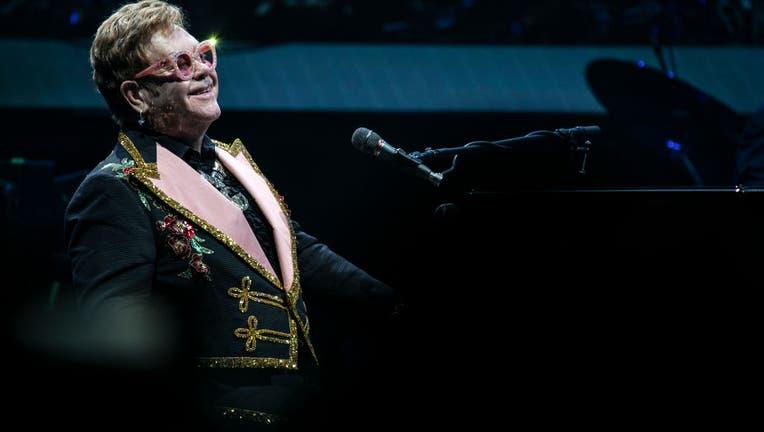 Elton John performs during the