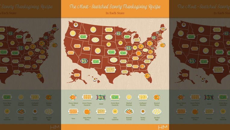 Thanksgiving Map Shows Each State S Most Searched Recipe