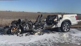 Pflugerville father, daughter survive violent Christmas Eve truck fire