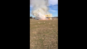 Fireworks stand catches fire in Georgetown