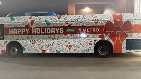 Capital Metro unveils new Holiday themed buses