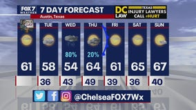 Noon weather forecast for January 20