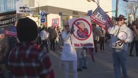 Supporters, protesters turn out during President Trump Austin visit