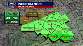 Rain chances on the rise Saturday evening, night