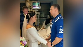 Indiana couple has ICU wedding so bride's dying father can attend