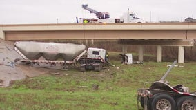 18-wheeler goes over bridge in southeast Travis County, shuts down SH 130 for hours