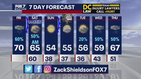 Noon weather forecast for January 17