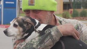 Austin veteran reunited with lost service dog missing since Christmas