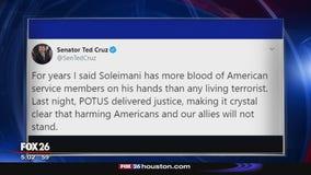 Texas politicians, law enforcement agencies respond to US killing of Iranian general
