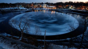 Ice disk forming again in river in Maine where last winter's disk gained international fame