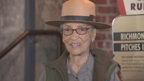 Nation's oldest park ranger back at work after stroke