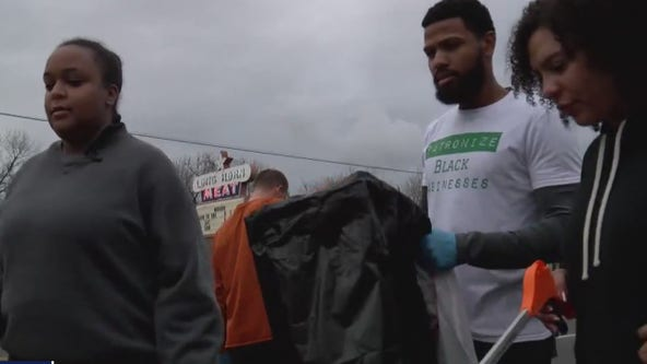 Over 150 join together to clean up litter for MLK Day of Service