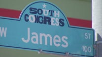 New street signs on South Congress