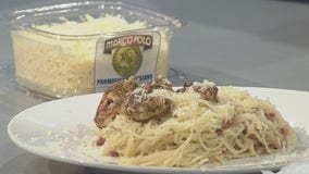 Good Day Cooks: Cacio e pepe shrimp over white wine lemon garlic pasta