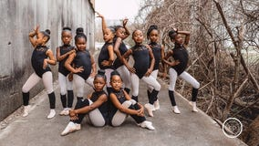 'Strong, fierce, determined': Tiny ballerinas' photo shoot takes on symbolic meaning in honor of Black History Month
