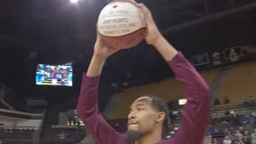 Texas State's Nijal Pearson honored for 2,000th career point