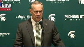 Michigan State head coach Mark Dantonio holds press conference following resignation