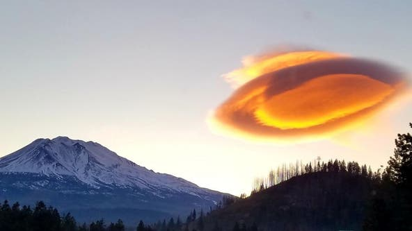 Cloud over Mt. Shasta in California appears 'out of this world'