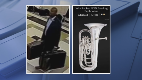 Man wanted for stealing band instruments from Plano East Senior High School