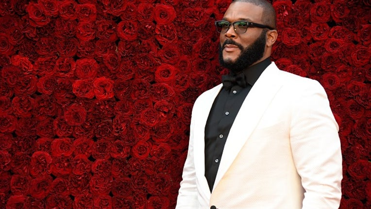 680f9daf-Tyler Perry attends Tyler Perry Studios grand opening gala at Tyler Perry Studios on October 05, 2019 in Atlanta, Georgia.