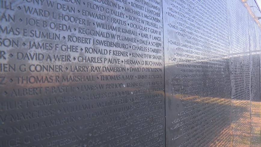 Vietnam War 'Wall that Heals' on display in Garland