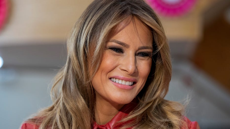 First Lady Melania Trump Visits Children's Inn At The National Institutes For Health On Valentine's Day