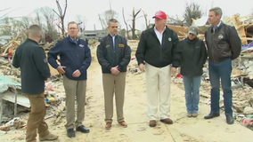 Trump surveys tornado damage, marvels at 'tremendous heart'