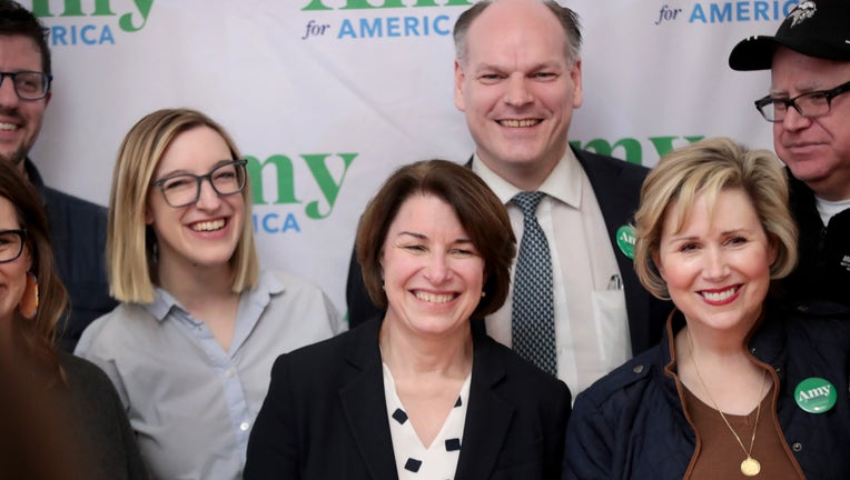 Democratic Presidential Candidate Sen. Amy Klobuchar Campaigns In Iowa Ahead Of State's Caucus