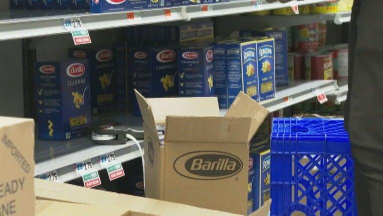 grocery store panic buying