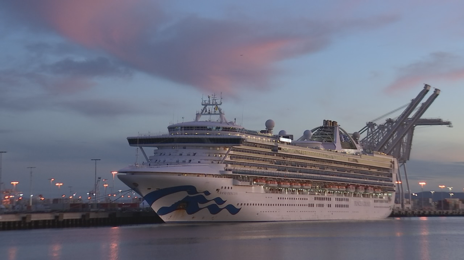 Day 2: 1,500 passengers to be let off Princess cruise in ...
