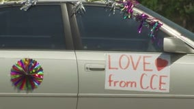 Staff at Cottonwood Creek Elementary get together for Caravan of Love