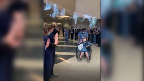 WATCH: St. David's South Austin Medical Center gives recovered COVID-19 patient big sendoff