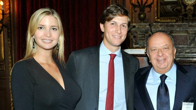 GETTY Ivanka Trump, Jared Kushner and Stanley Chera in 2011