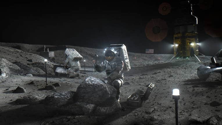 NASA artemis astronauts on the moon 043020