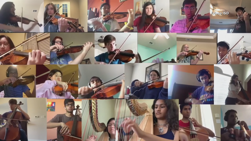 Frisco orchestra students bringing hope with virtual performance of 'See You Again'