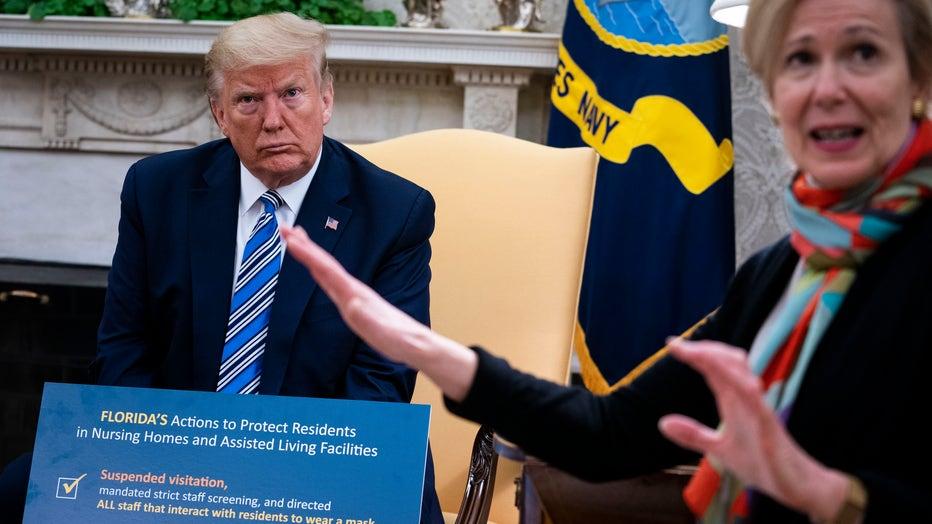 President Trump Holds News Conference with FL Gov. De Santis At White House