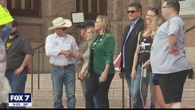 Hundreds gather at Texas capital for two COVID-19 related protests