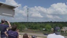 Round Rock nurse reacts to Thunderbird flyover salute