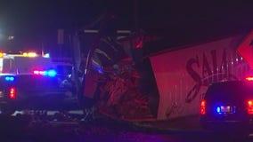 Crash in Jarrell involving multiple 18 wheelers