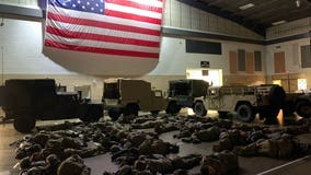 'It's been a long night': Minnesota National Guard shares photo of sleeping soldiers after protests