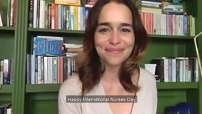 'These are the hands': Actress Emilia Clarke recites poem in touching tribute for International Nurses Day
